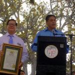 Kiwanian Chin Ho Liao (left) and SG Vice Mayor Jason Pu (right)