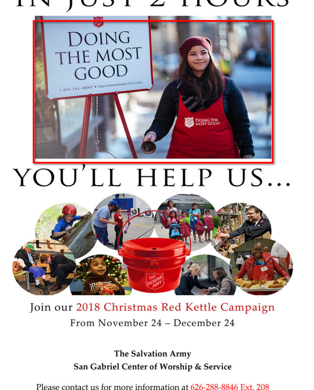 San Gabriel Salvation Army flyer